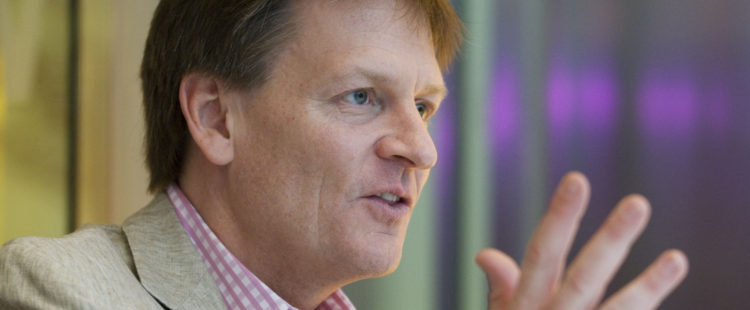 """Author Michael Lewis speaks during an interview in New York, U.S., on Monday, March 15, 2010. Lewis's new book is """"The Big Short: Inside the Doomsday Machine."""" Photographer: Jonathan Fickies"""